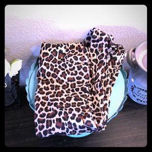 Cheetah print tights